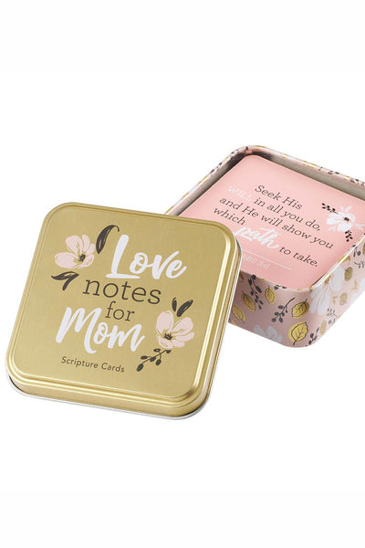 Pink & Gold Tin with Scripture Card Set
