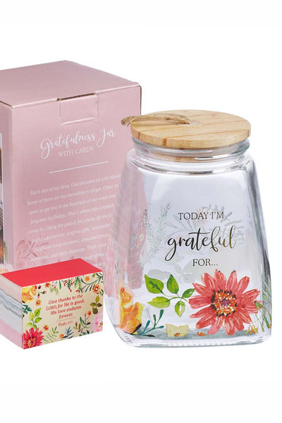 Floral Grateful Jar and Card Set