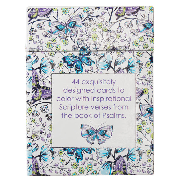 Psalms Coloring Card Box Back View