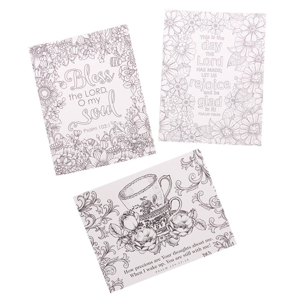 Psalms Coloring Card Samples