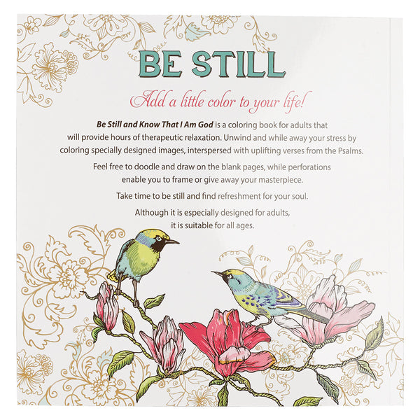 Be Still & Know that I Am God Coloring Book ~ Back Cover