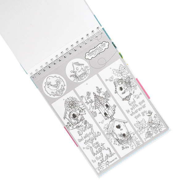 Coloring Book Bookmark Page View