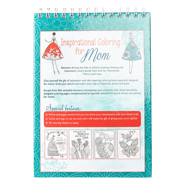Inspirational Coloring for Mom Wirebound Coloring Book ~ Back Cover