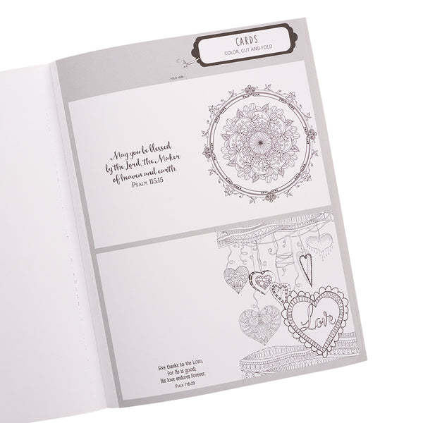 The Psalms in Color Coloring Book ~ Card View