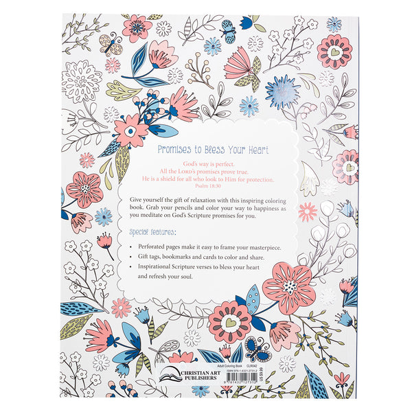 Promises to Bless Your Heart Coloring Book ~ Back Cover View