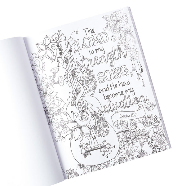 Promises Coloring Book ~ Interior View of Guitar
