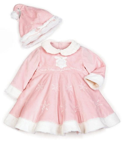 Pink Heirloom Baby Dress & Hat