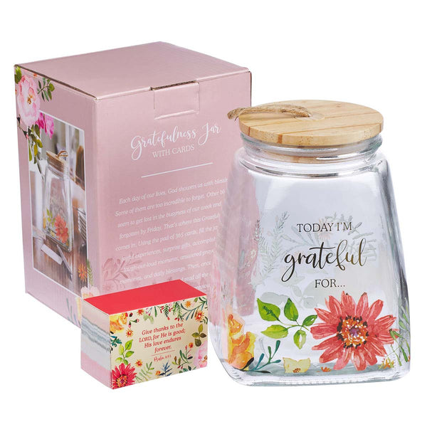 Close Up view Grateful Jar & Card Set