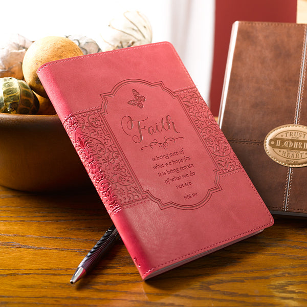 "Hebrews 11:1 Pink ""Faith"" Journal"