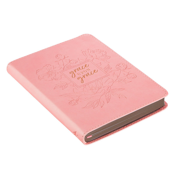 Grace Upon Grace ~ John 1:16 Classic Pink Journal ~ Side View