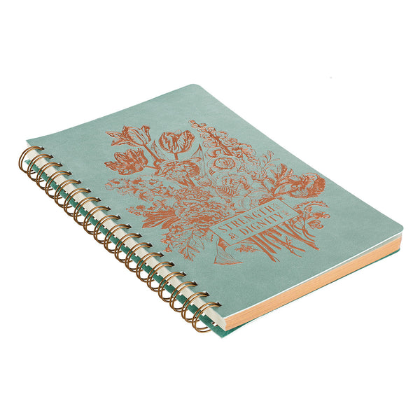 Strength & Dignity Wire-Bound Journal ~ Gilt Edge View