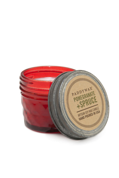 Paddywax Pomegranate Spruce Relish Jar Candle