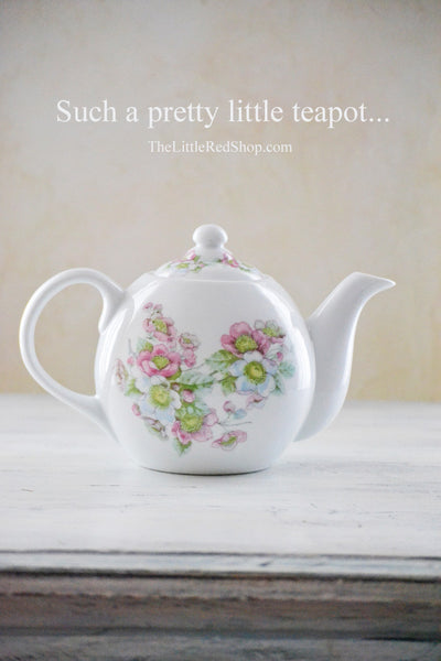 Small Flower Blossom Porcelain Teapot