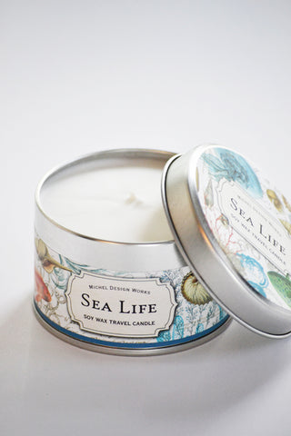 Sea Life Soy Wax Travel Candle