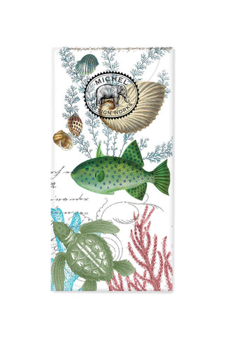 Sea Life Pocket Tissues with Fish, Shells & Coral