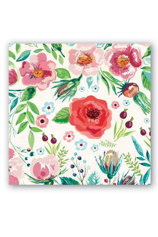 Wild Berry Blossom Floral Cocktail Napkins