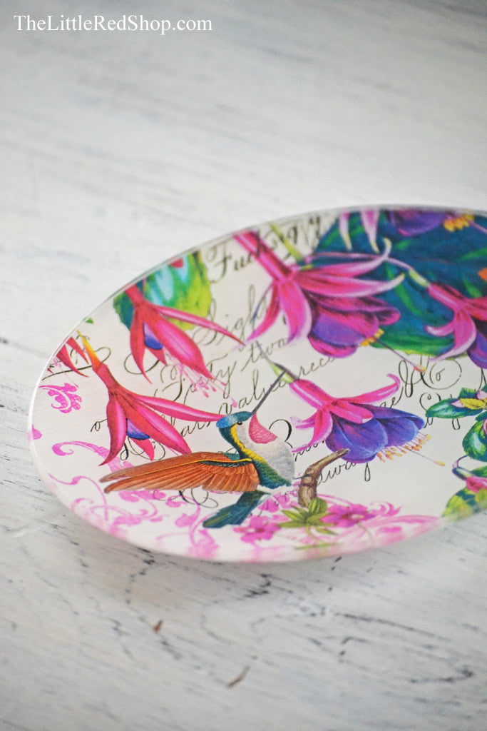 Michel Design Works Oval Fuchsia Soap Dish