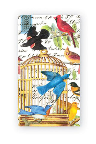 Napkins with Bird & Gilded Cage Images