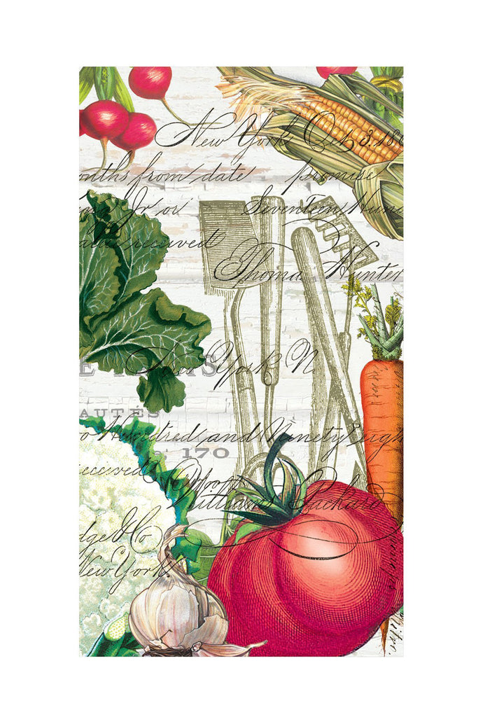 From My Garden Hostess Napkins w/ Vegetable & Garden Tool Print