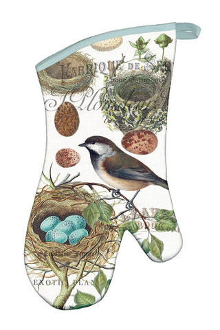 Michel Design Works Nest & Eggs Oven Mitt w/ Bird