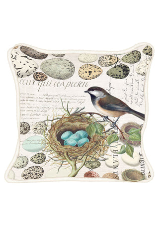Michel Design Works Nest & Eggs Square Pillow