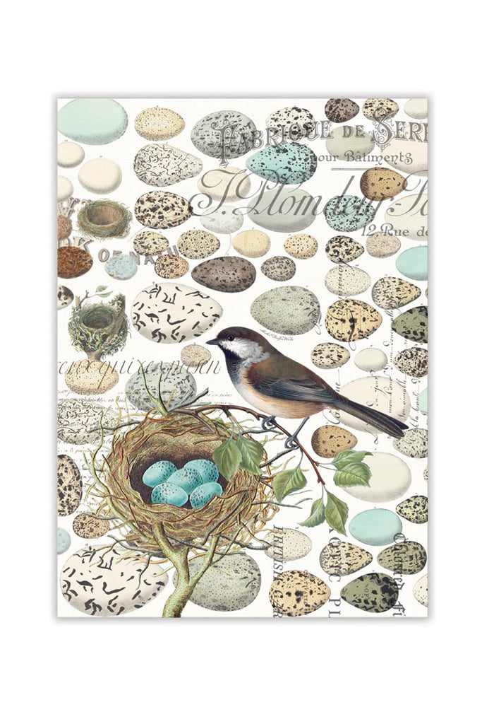 Michel Design Works Nest & Eggs Kitchen Towel w/ Bird