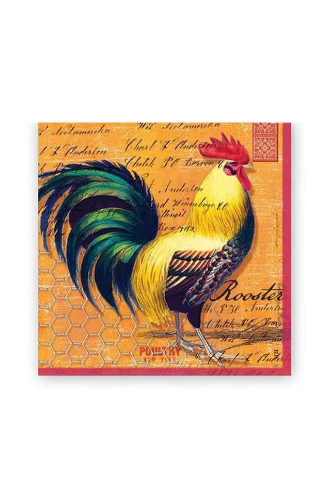 Bantam Rooster Luncheon Napkins
