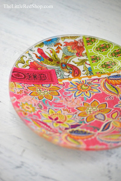 Close up of Michel Design Works Tutti Frutti Soap Dish