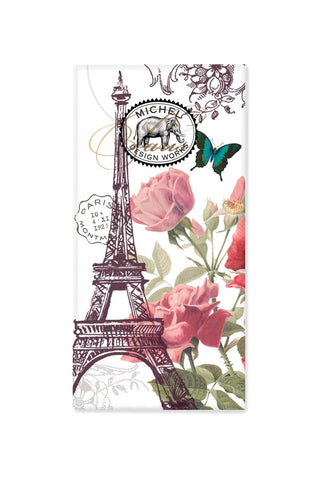 Toujours Paris Pocket Tissues with Eiffel Tower Motif