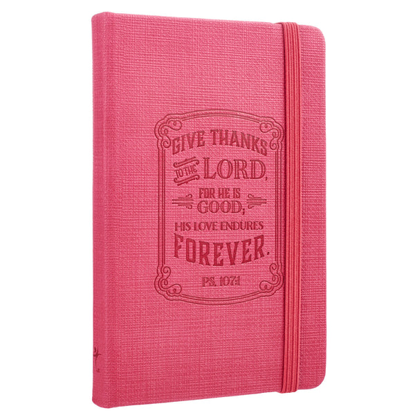 Hot Pink Give Thanks Notebook ~ Alt View