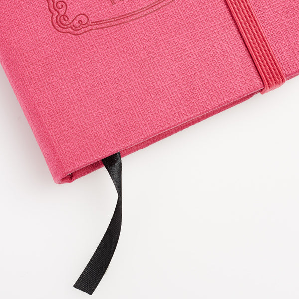 Hot Pink Give Thanks Notebook ~ Corner View