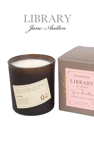 Library Jane Austen Boxed Soy Wax Candle