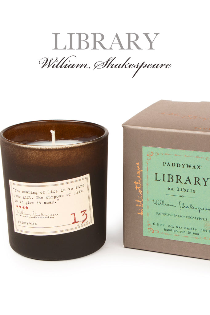 Wm Shakespeare Soy Wax Library Candle