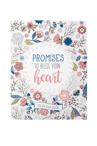 Promises to Bless Your Heart Coloring Book ~ Front View