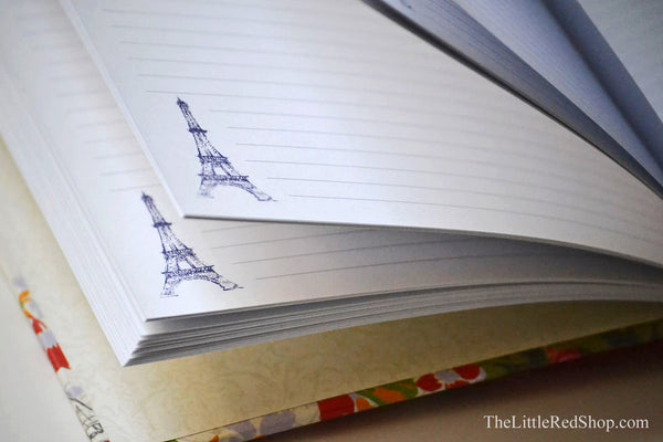Journal Page view with Eiffel Tower