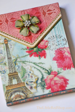 Paris Garden Brooch Notepad