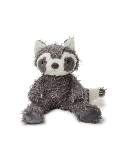 Bunnies by the Bay's Roxy Raccoon Camp Cricket Woodland Stuffed Animal