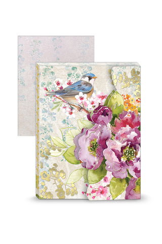 Bird & Blossoms Portfolio Pocket Notepad