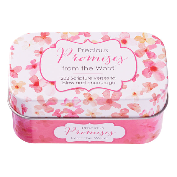 Close Up Pink Promise Card Tin