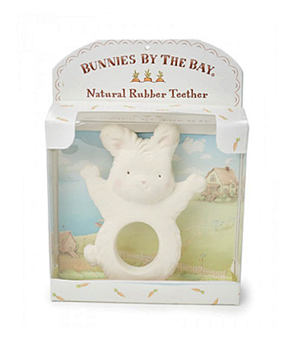 Nibble Bunny Natural Rubber Teether in box
