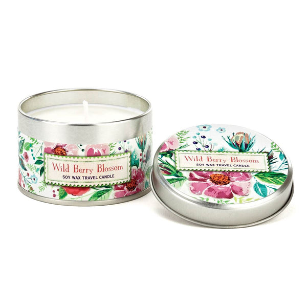Wild Berry Blossom Soy 4oz Travel Candle
