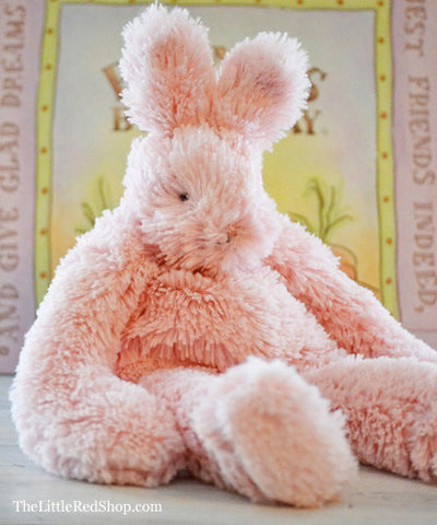 Bunnies by the Bay's Pink Floppy Hoppy Best Friend Bunny Stuffed Animal