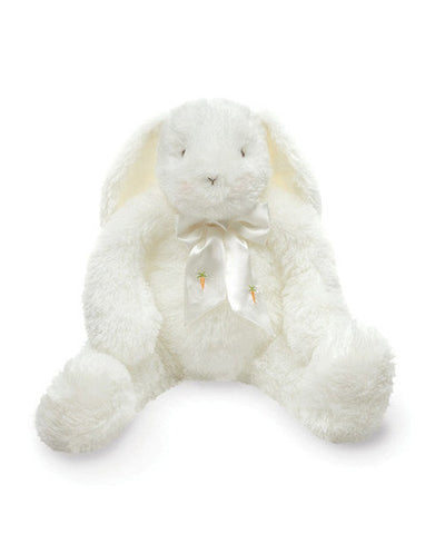 Bunnies by the Bay's White Fluffy Goodness Gracious Bunny Rabbit Stuffed Animal with Satin Bow