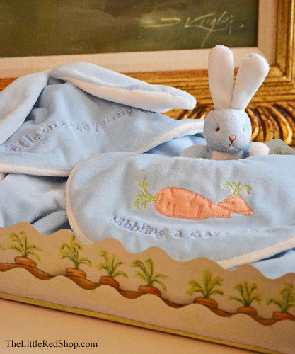 Bunnies by the Bay's Baby Blue Bunny Hoppyhood Blanket Gift Set