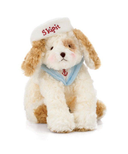 Bunnies by the Bay's Snuggly Soft Sailor Skipit Pup Stuffed Animal