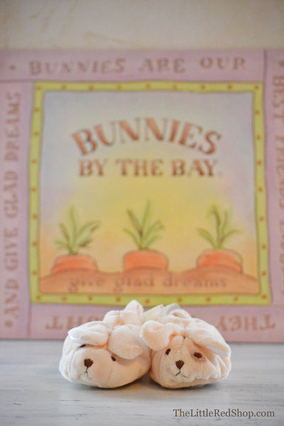 Bunnies by the Bay's Skipit Puppy Dog Baby Bootie Slippers