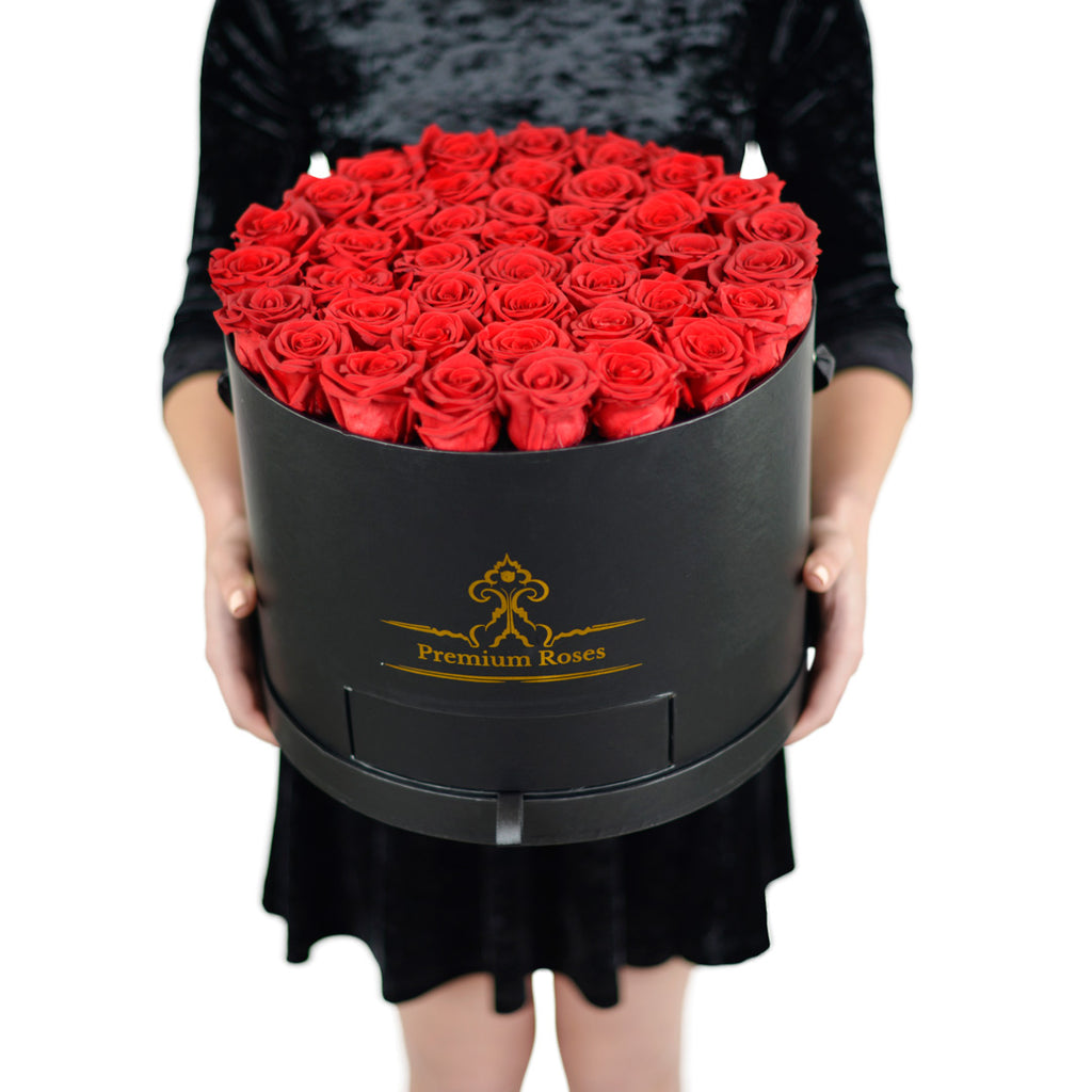Signature 3 Dozen Red Rose in Black Box