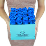 Real Lake Blue Roses that can Last A year