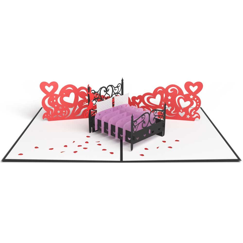 Love Bed 3D card