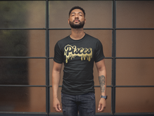 Sagittarius Men's Drip Black Tee W/Gold